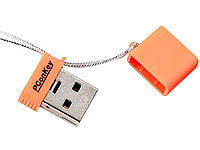 "PConKey USB-2.0-Mini-Speicherstick ""Square II CL"", 8 GB, neonorange"